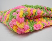 Knitted Baby Blanket - Posies - Clearance