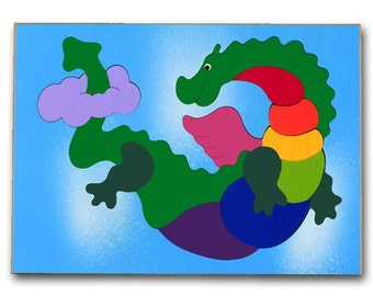 Kids Wooden Puzzle | Flying Dragon Dinosaur