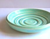 Mint green soap dish