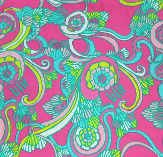 Authentic New Lilly Pulitzer Fabric Shell We Dance 14 x 18 inches