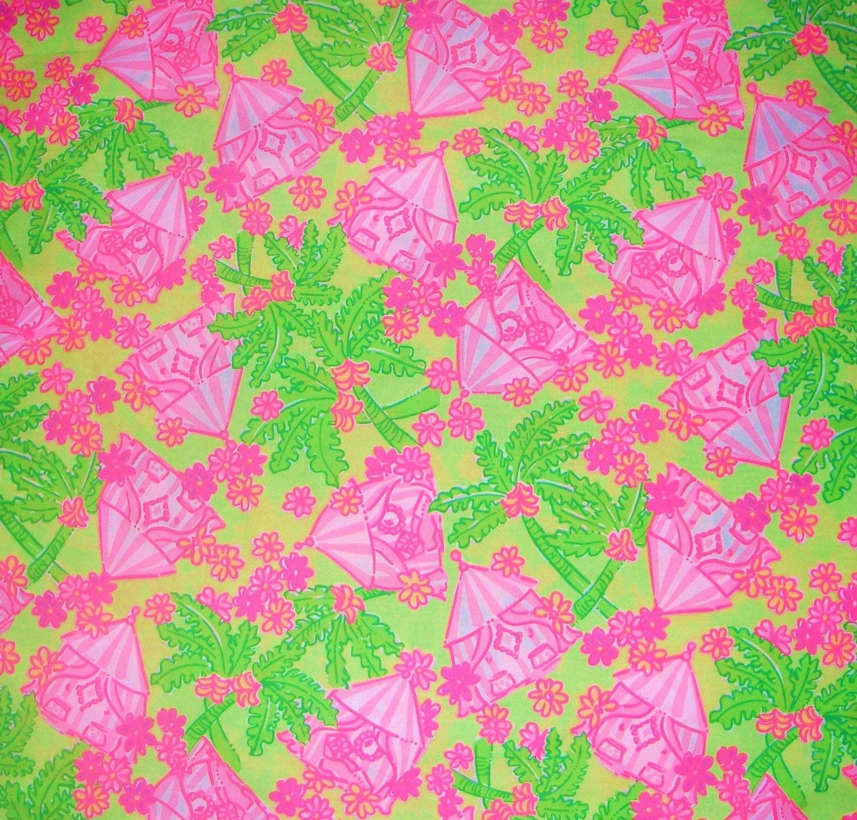 Lilly Pulitzer Fabric Authentic New Lilly Pulitzer Fabric Cabanarama 1 Yard X 57