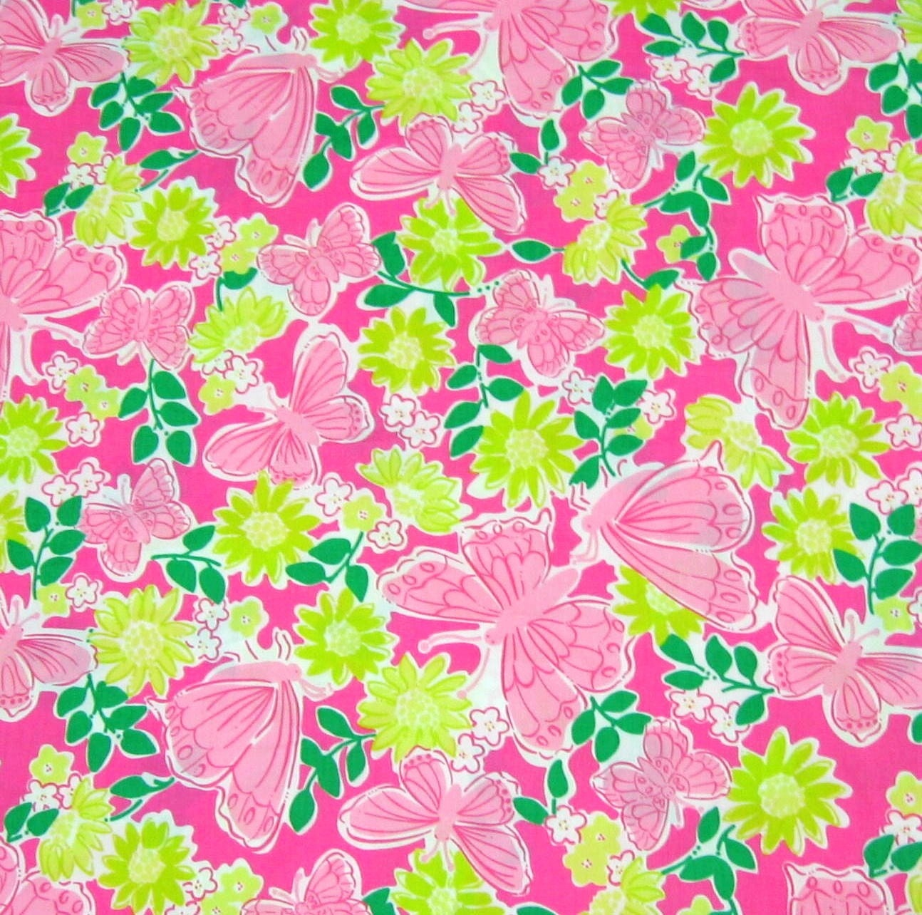 Lilly Pulitzer Fabric Authentic New Lilly Pulitzer Fabric Pink Hidden Garden 18 X 18