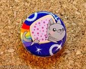Poptart Nyan Cat Pin-back Button (small)