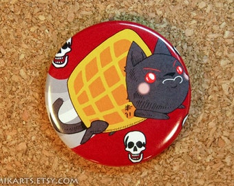 Waffle Tac Nayn Pin-back Button or Magnet (large)