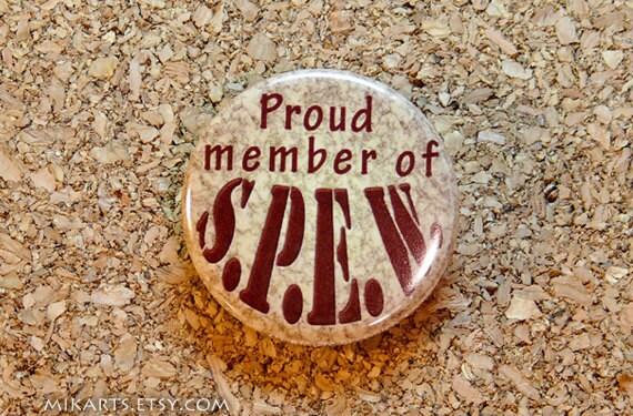 Harry Potter Proud Member of S.P.E.W. Pin-back Button