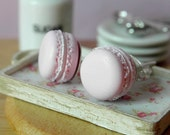 Earrings - French macaroons in the rose