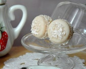 Earrings - French coconut macaroons