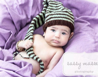Pixie Hat Knitting Pattern Photo Prop 0-4/4-9/ toddler/ child
