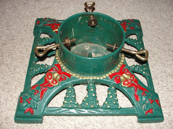Antique s christmas tree stand by sitfan on etsy