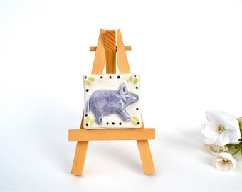 Piggly Wiggly - 2 x 2 Ceramic Tile with Easel
