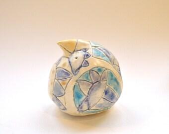 Ceramic Animal Shaker - Whimsical Bird