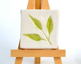 Sprig of Fern - 2 x 2 Tile with Easel