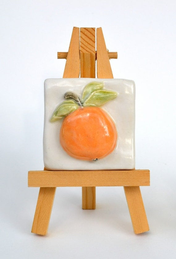 Orange - 2 x 2 Tile with Easel
