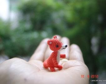Miniature baby fox - Tiny amigurumi crochet animal