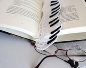 Lace Piano Keys Bookmark