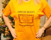 1986 MacDales Butter Scotch Schnapps T-shirt, Yellow, Size Large