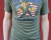 Vintage Reforger Military T-shirt, Green, size M/L