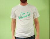 1991 Winner T-shirt, White, Size Large