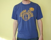 RESERVED Vintage Lions Club T-shirt, Navy Blue, Size XL