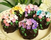 5 Chocolate Truffles Easter egg  candy gardens
