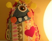 Recycled Stuffed Little Monster From Alien Planet Plush Toy