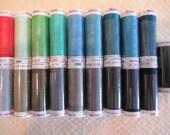 Mettler Slik Finish Cotton Thread ART 105, 19 spools