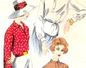 Vogue 9831 Vintage 50s Blouse Shirt Sewing Pattern B32