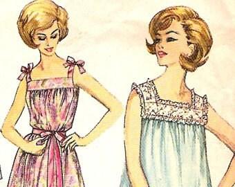 Simplicity 4484 Vintage Nightgown Panties Sewing Pattern B34