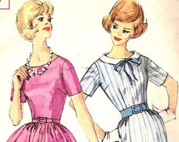 Simplicity 4257 Vintage Dress Sewing Pattern B34