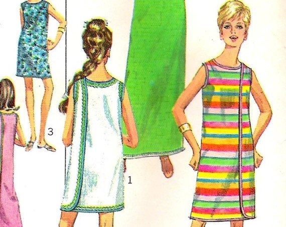 Vintage Summer Beach Coverup 3 Armhole Wrap Dress Sewing