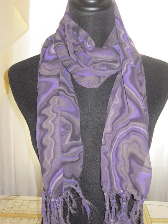 women's fashion scarf, purple chiffon  print  FREE SHIPPING