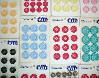 Antique/ Vintage buttons on store card