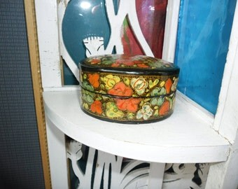 Victorian French Lacquer Paper Mashed box 1920s