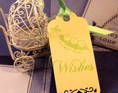 25 Baby Wish Tags - Hand Stamped - Sweet Pea Wishes