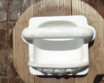 Vintage Cast Iron Porcelain Soapdish
