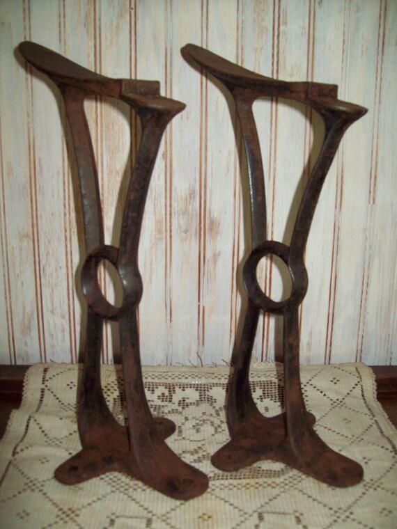 Vintage Cast Iron Shoe Shine Stands