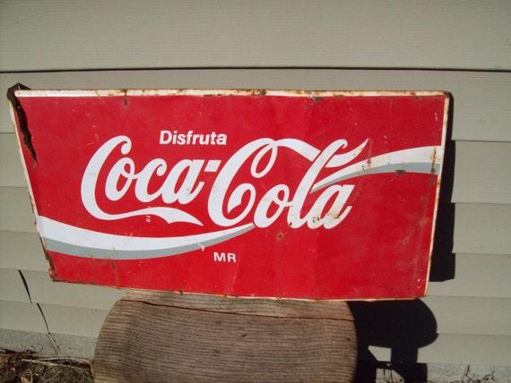 Vintage Coca Cola Sign.