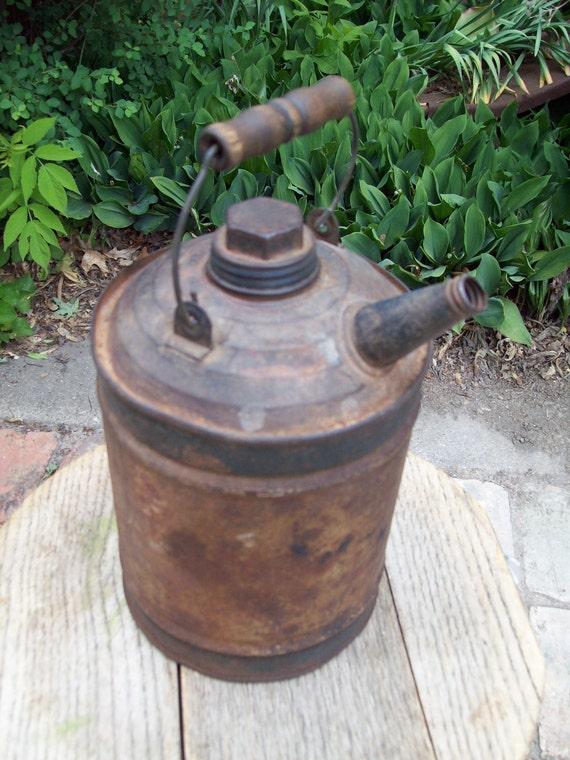 Vintage Metal Gas Can.