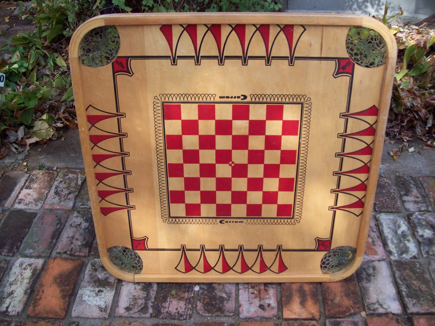 Wood Board Games ~ Vintage wooden board game
