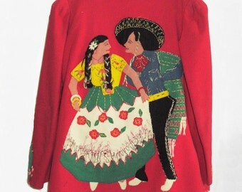 1930's Monterrey Mexican Jacket with appliques