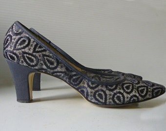 Thom McAn 1960's lace high heels