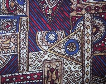 1960s Tiki Batik Cotton Sports Jacket