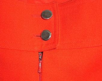 Designer Courreges Hiphugger Orange pants