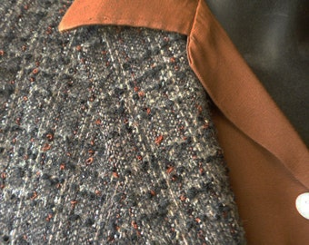 1950's Atomic Rockabilly Brown Flecked Man's Hollywood Sports Jacket