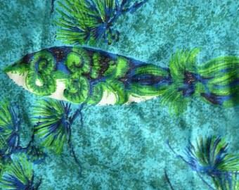 1950s Swim Trunks with Fish motif