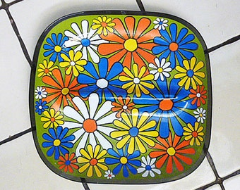 REDUCED 1960's MOD Glass Serving dish