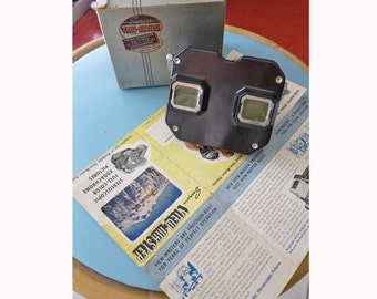 1945 Sawyer's View-Master with box, instructions, and receipt