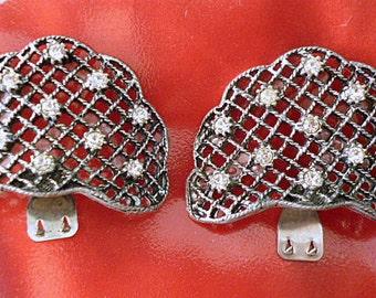 1960's Designer Rhinestone MUSI shoe clips