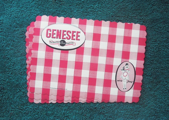 Original Paper Genesee Beer Placemats