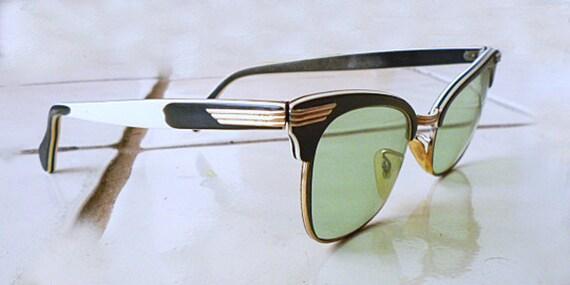Atomic 1950s Rockabilly- Mad Men- Cat Eye Glasses